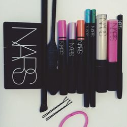 These are a few of the <b>NARS</b> staples in my makeup bag: Douceur Blush, Villa Lante Satin Lip Pencil, Yachiyo Brush, Radiant Creamy Concealer, and Khao San Road Larger Than Life Long-Wear Eyeliner.