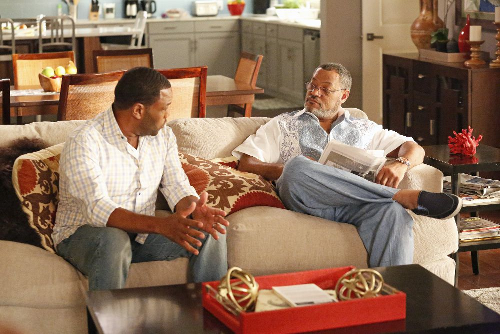 Dre and his dad on Black-ish.