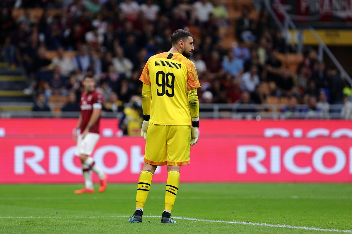 Gianluigi Donnarumma of Ac Milan disappointed during the...