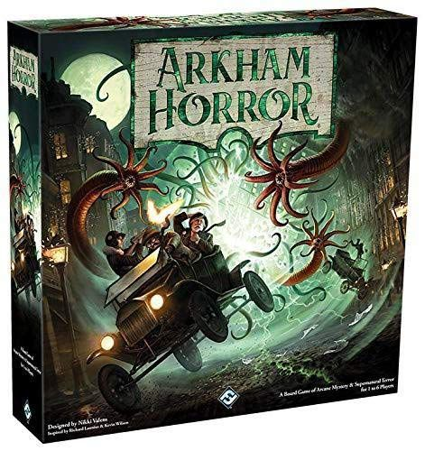 Box art for the third edition of Arkham Horror, release in 2018.