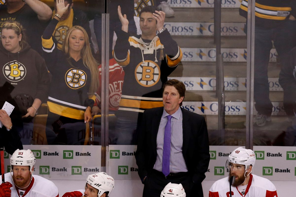 Mike Babcock at TD Garden with the Red Wings