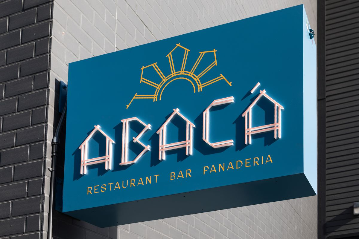 The sign outside Abacá