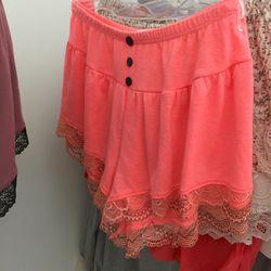 Pink shorties, $20