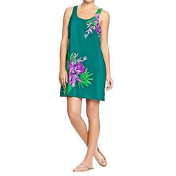 """<b>Old Navy</b> <a href=""""http://oldnavy.gap.com/browse/product.do?cid=91340&vid=1&pid=524682012#close"""">Women's Floral Crepe Tank Dress</a> in Cool Floral, $27 (on sale from $29.94)"""