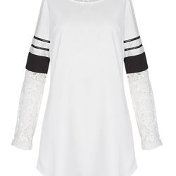 """Pixie Market """"Varsity"""" lace shift dress, <a href=""""http://www.pixiemarket.com/varsity-lace-shift-dress.html"""">$75</a>"""
