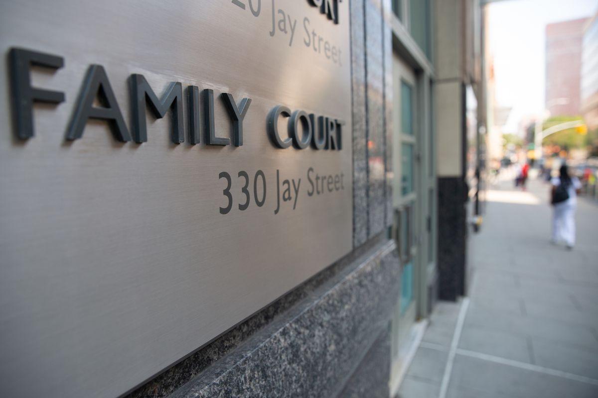 Brooklyn Family Court on Jay Street, Aug. 25, 2020.