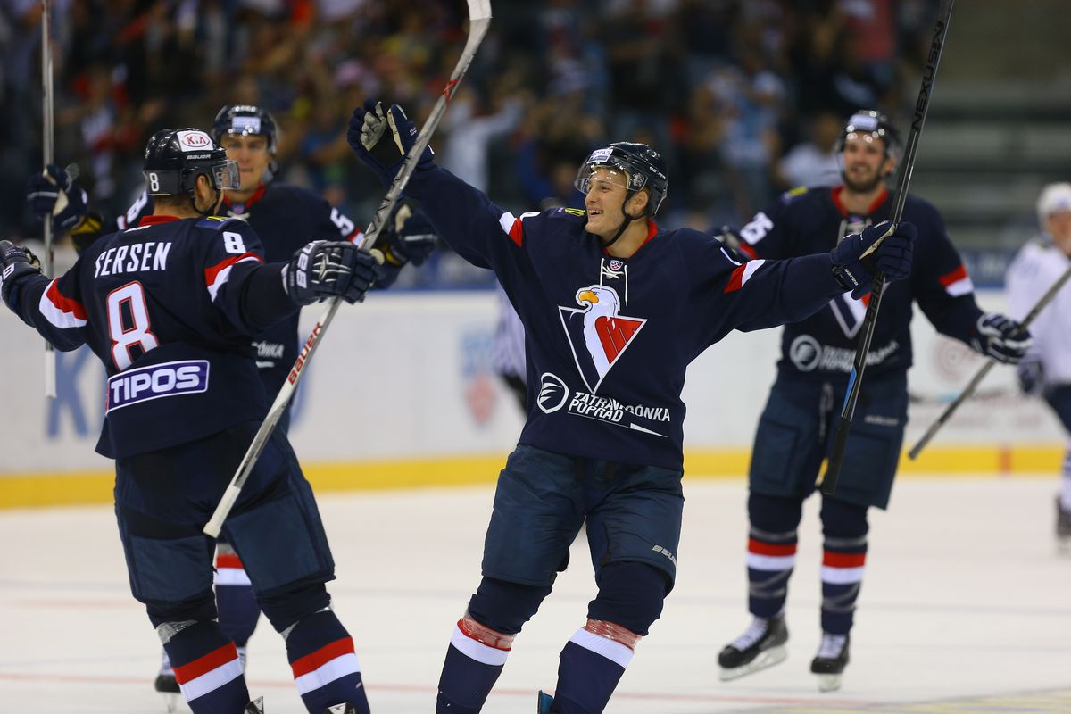 #4 Patrick Luza #8 Michal Sersen HC Slovan Bratislava