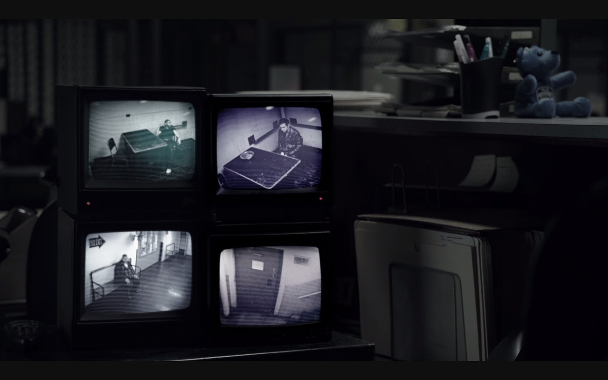 A scene featuring security monitors in The Night Of