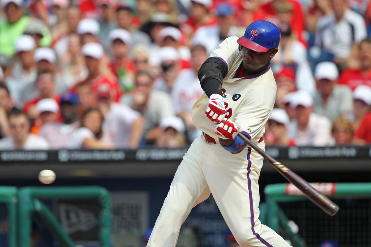 Ryan Howard: the cause of, and solution to, all the Phillies' offensive problems. (Photo by Hunter Martin/Getty Images)