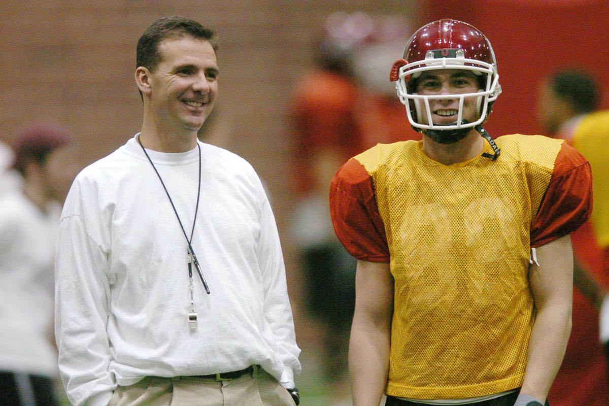 Coach Urban Meyer conducts practice at the U of U practice facility in Salt Lake City, Utah Thursday December 16, 2004.