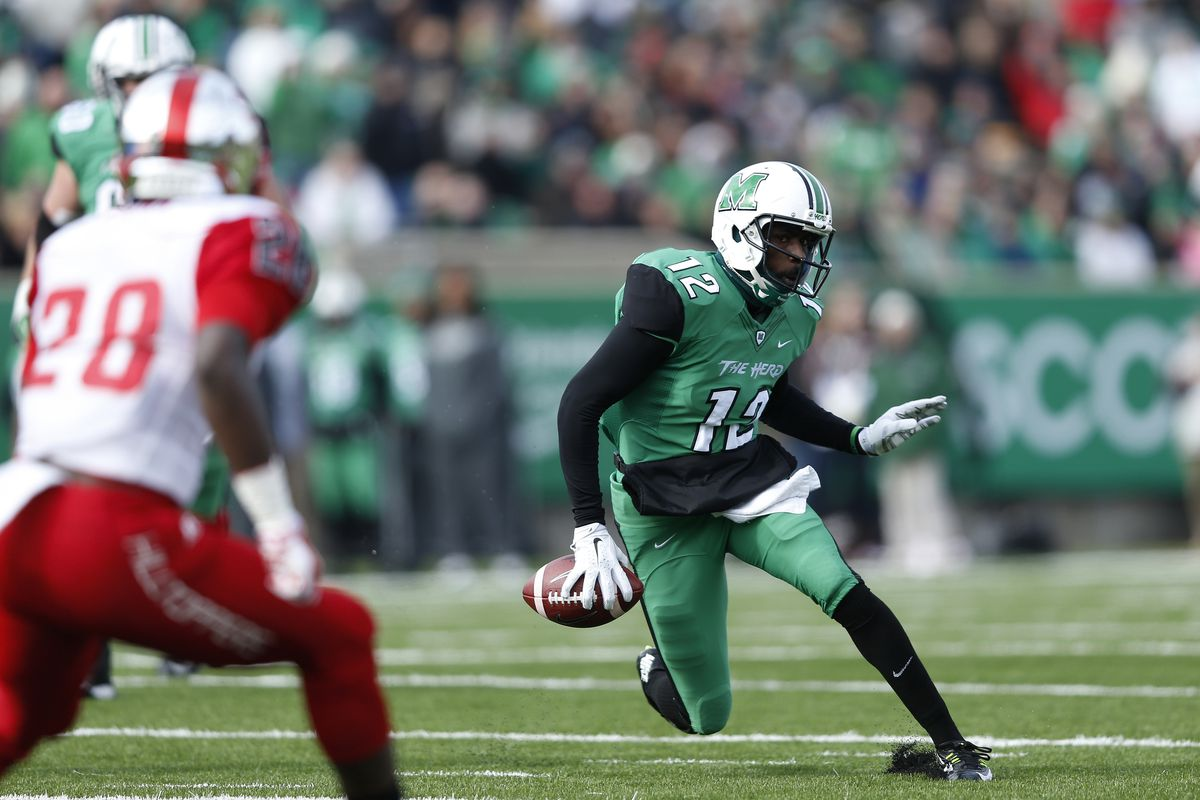 Bill Legg product Rakeem Cato became one of the most prolific quarterbacks in Marshall history.