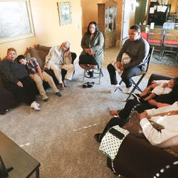 The Gassant family watches the 190th Semiannual General Conference of The Church of Jesus Christ of Latter-day Saints from their home in West Valley City on Sunday, Oct. 4, 2020.