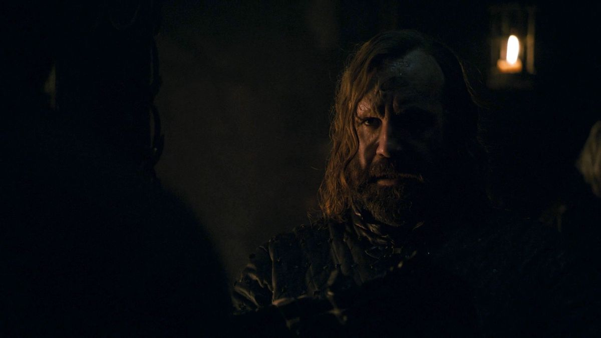 """Game of Thrones S08E01 Sandor """"The Hound"""" Clegane"""