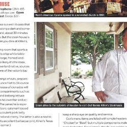 Killen's Steakhouse's Ronnie Killen in Wine Spectator's December 2014 issue.