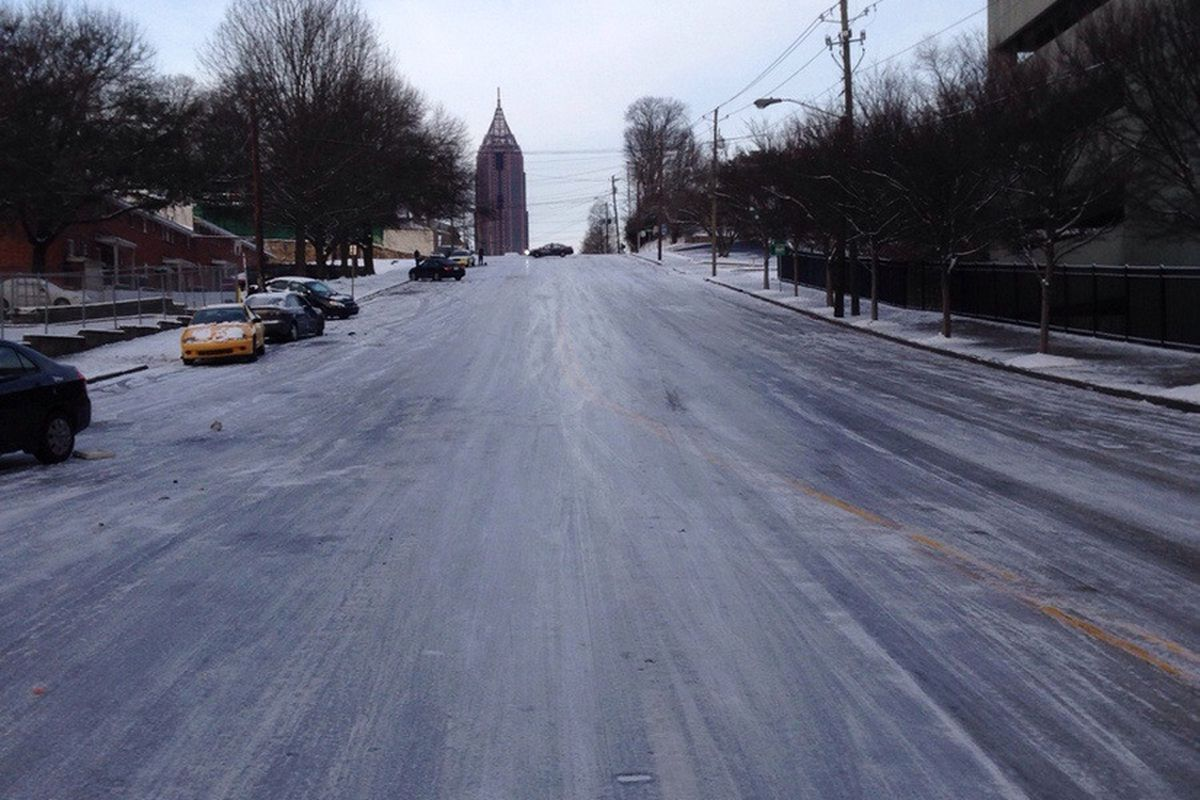 North Avenue this morning in downtown Atlanta