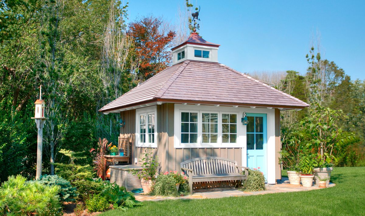 Hip-Roofed Garden Shed