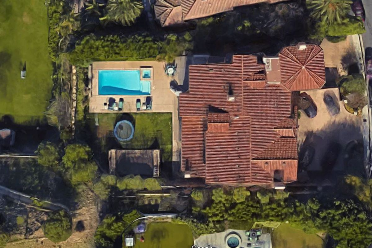 Aerial view of Slash house