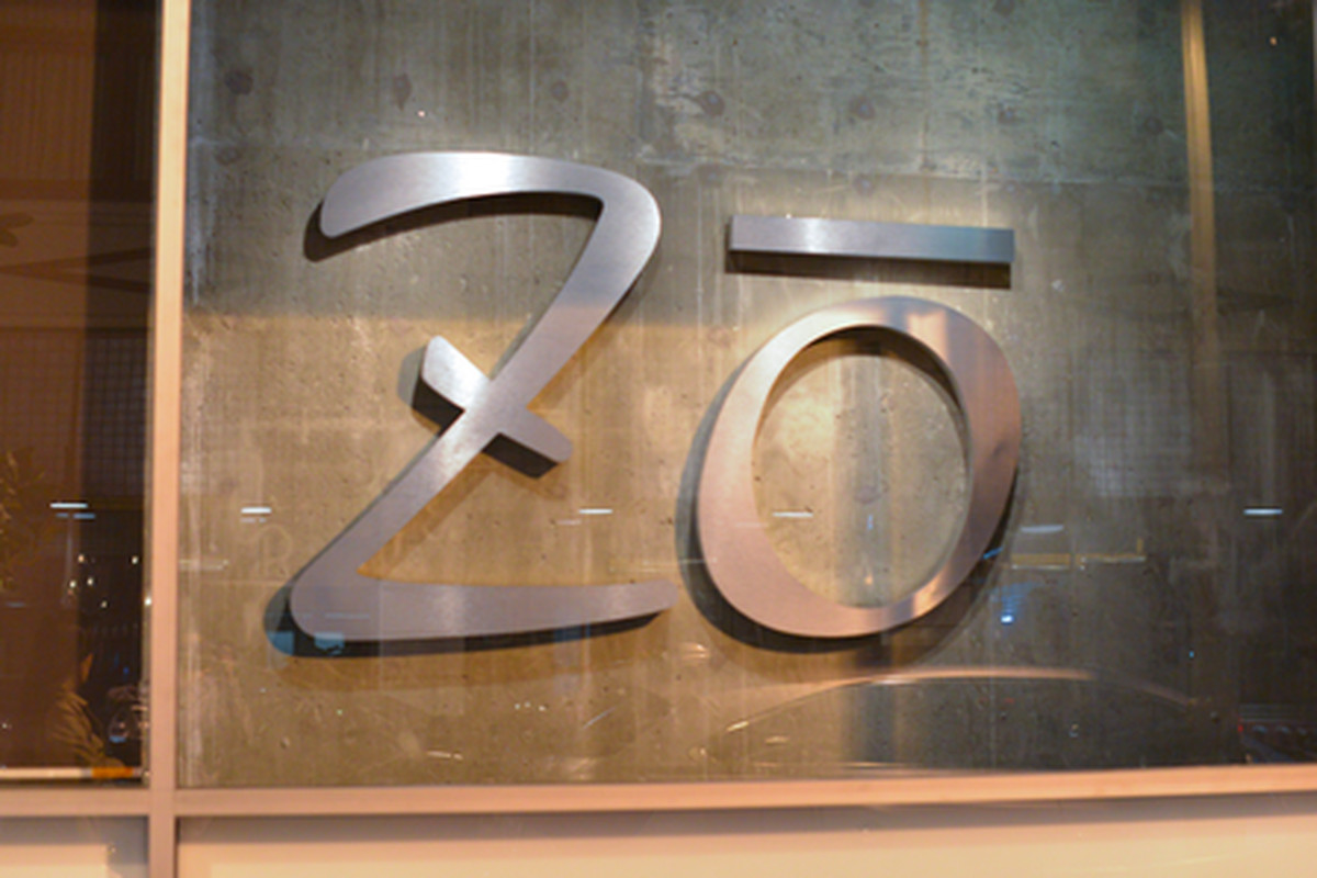 Signage at Zo, Downtown.