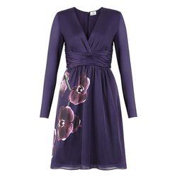 Dress in Purple Orchid Print, $49.99
