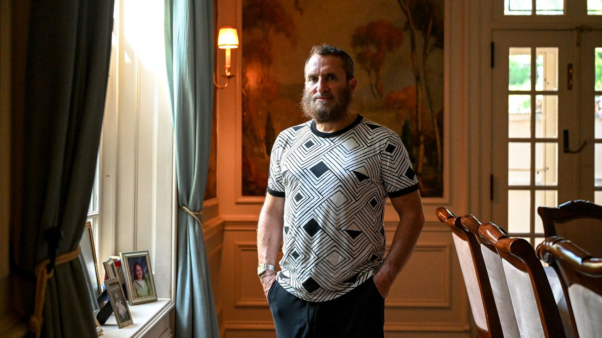 Rabbi Shmuley Boteach poses for a portrait inside his home in Englewood, N.J., on Friday, Sept. 10, 2021.