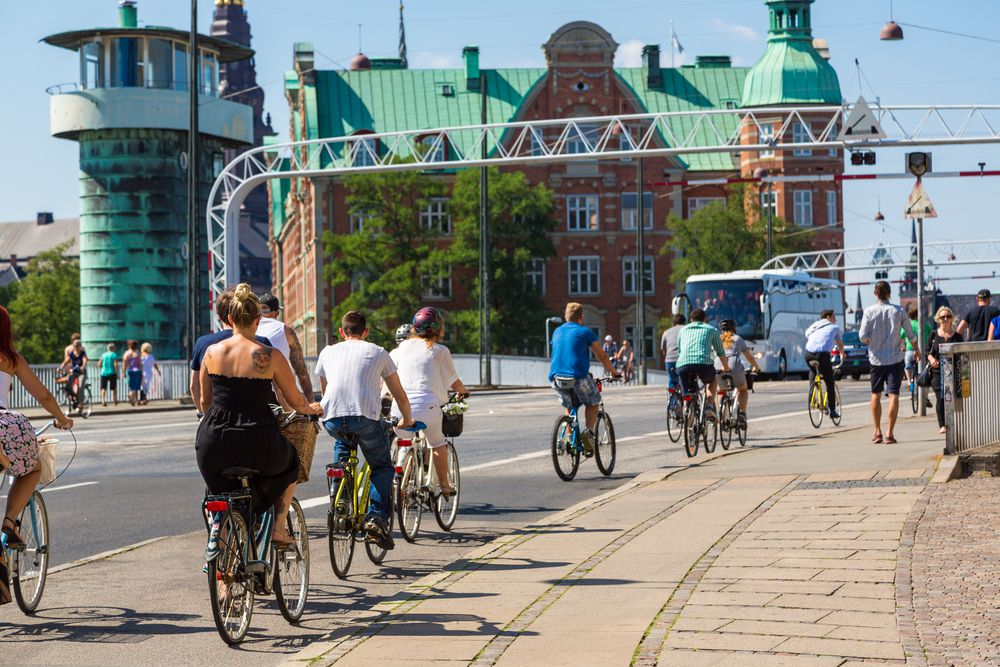 Bikin' in Copenhagen.