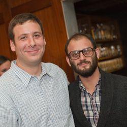 Curbed NY editor Joey Arak and Darin Bresnitz.
