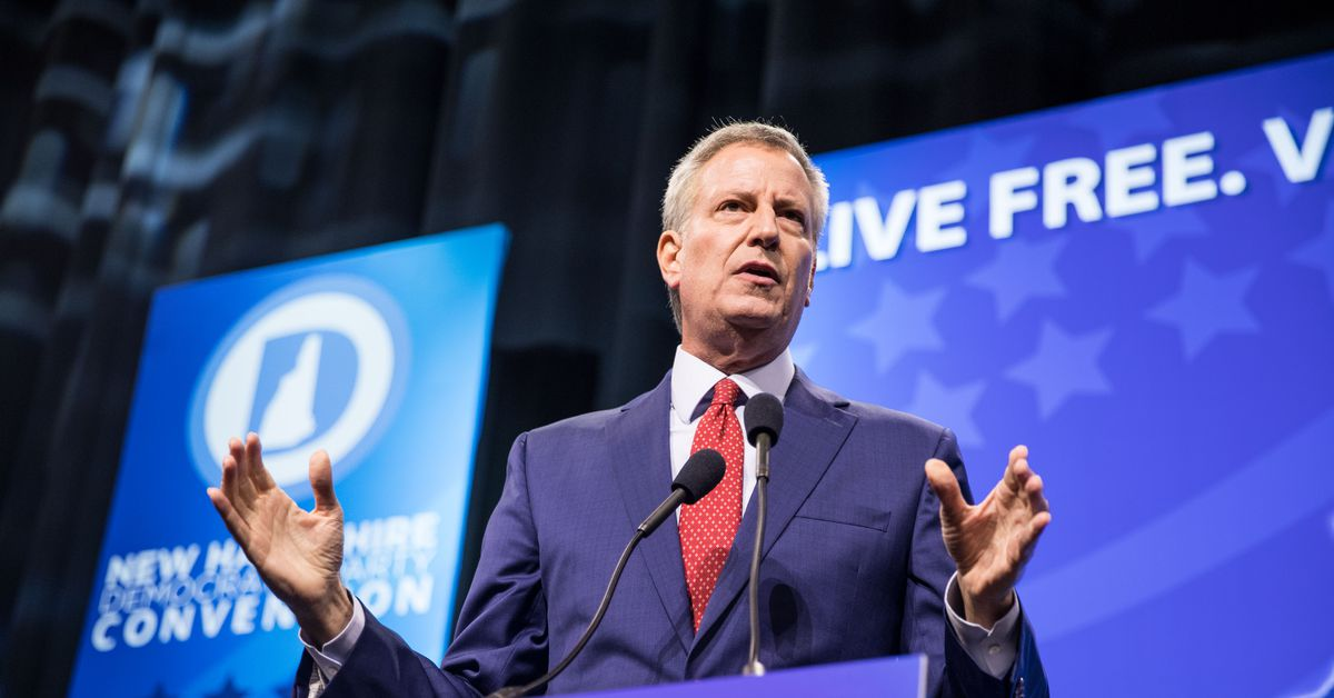 New York City mayor and 2020 presidential candidate Bill de Blasio wants a robot tax