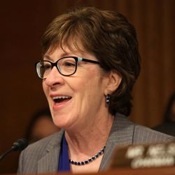 Sen. Susan Collins, R-Maine, ranking member on the Senate Aging Committee speaks on Capitol Hill  in Washington, Wednesday, Sept. 10, 2014, during the committee's hearing to examine older Americans and student loan debt.