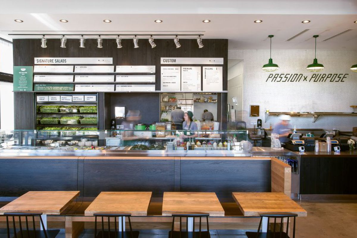 """<a href=""""http://boston.eater.com/archives/2014/06/03/peek-inside-the-bright-airy-sweetgreen-in-chestnut-hill.php"""">sweetgreen, Boston</a>."""