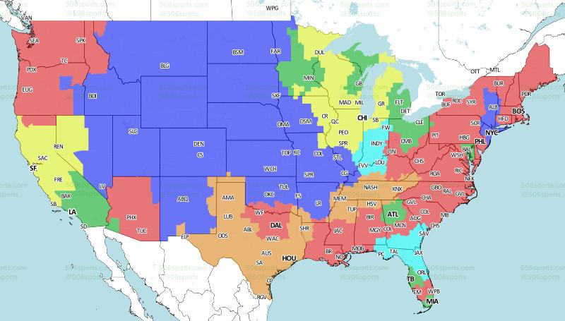 Buffalo Bills vs. New England Patriots broadcast map - Buffalo Rumblings