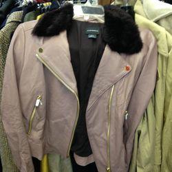 Leather jacket, $229