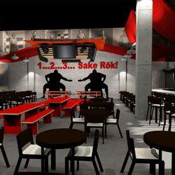 Sake Rok bar right view rendering Ray Designing Environments