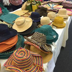 May Y Sol hats ($20) and clutches ($30)