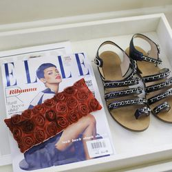 """Chanel calfskin chain sandals, price unknown. """"I bought these at Chanel on Robertson. I wear them to run errands."""""""