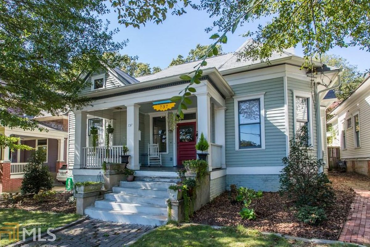A photo of a 1905 bungalow in Grant Park Atlanta for sale now.