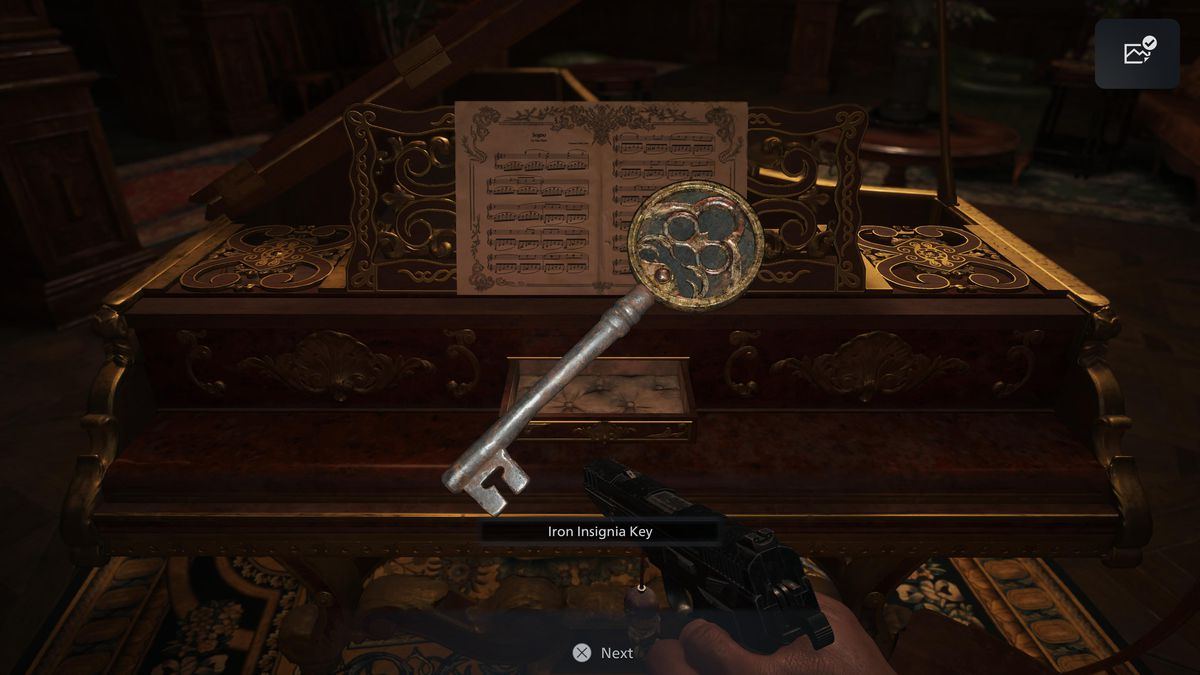 The Iron Insignia Key in Resident Evil Village
