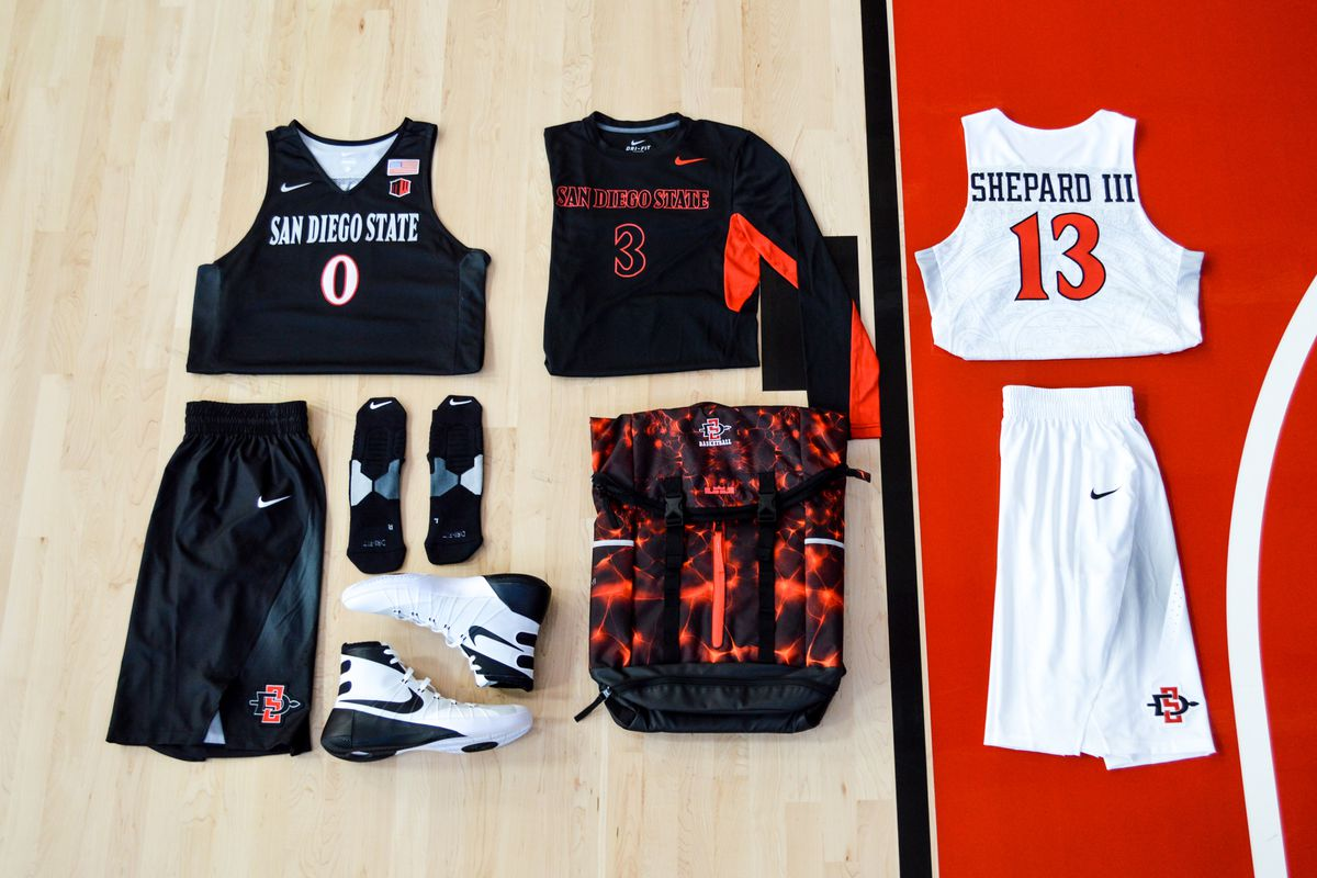 c2787abc6 San Diego State basketball gets new uniforms - Mountain West Connection