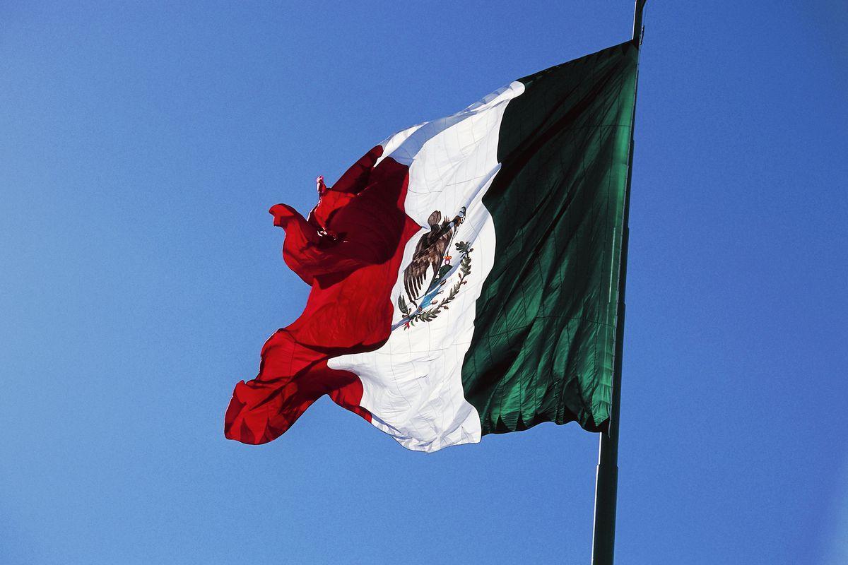 Mexican flag, Ensenada, Northern Baja California