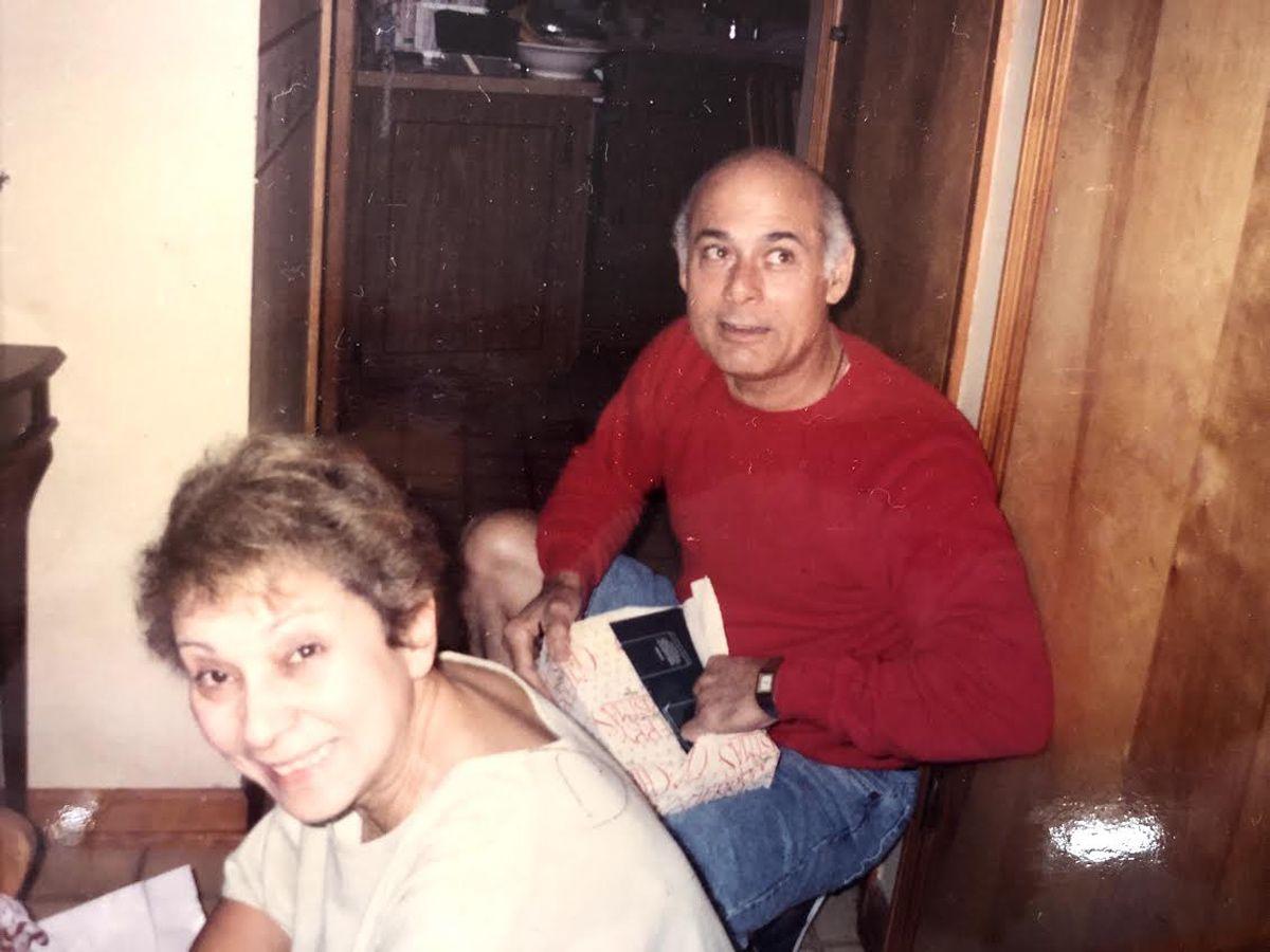 Carmen Martinez with Hernan Martinez, her grade-school sweetheart and her second husband.