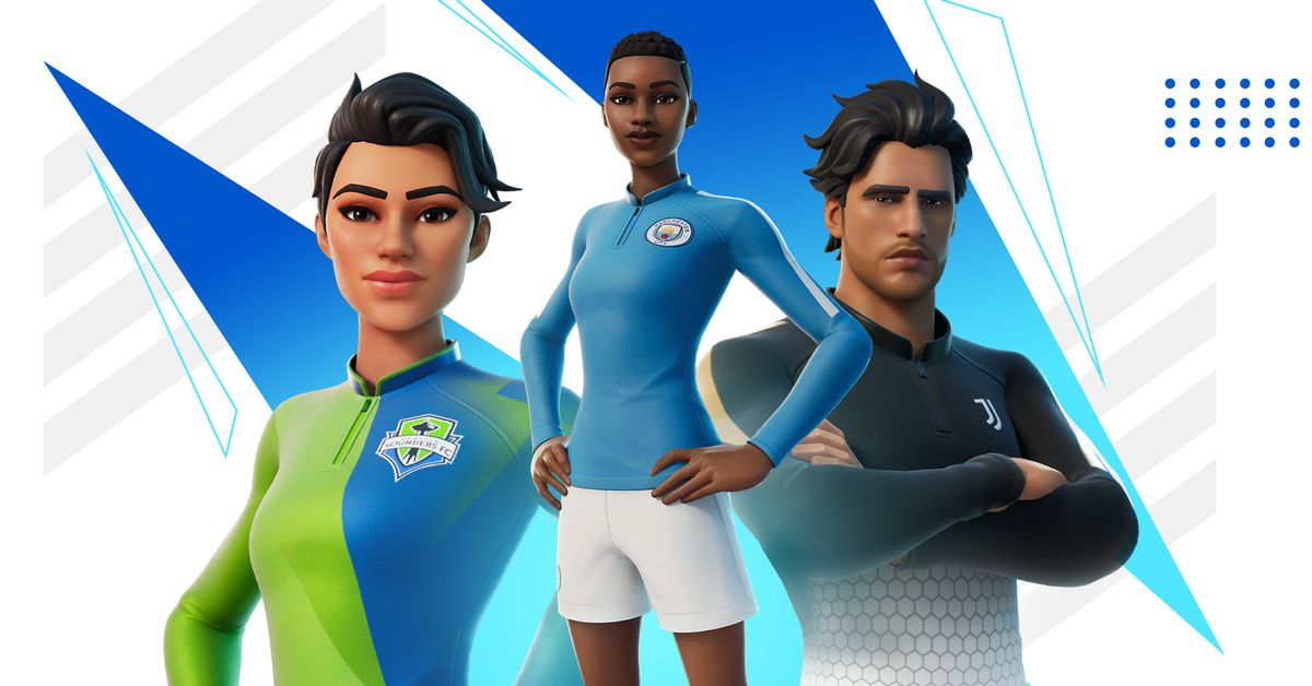 Fortnite's new soccer skins feature big teams like Manchester City and Juventus - The Verge