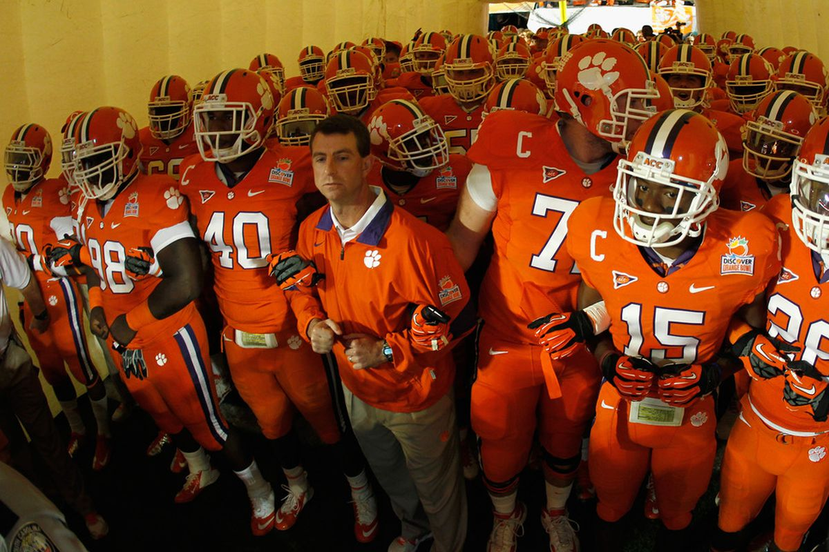 Can the Orange Bowl deal keep Clemson and Florida State in the ACC? (Photo by Mike Ehrmann/Getty Images)