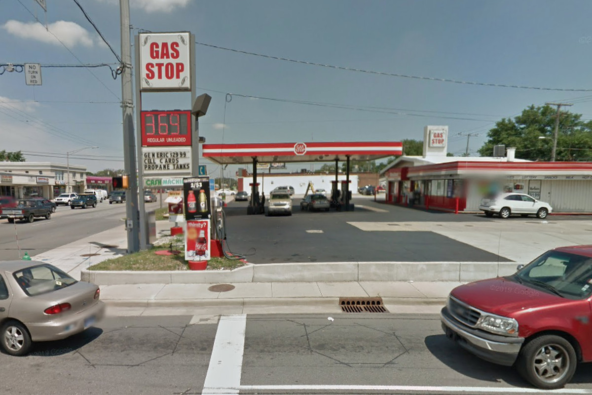 A woman was shot at a gas station Feb. 4, 2020 in Hammond, Indiana.