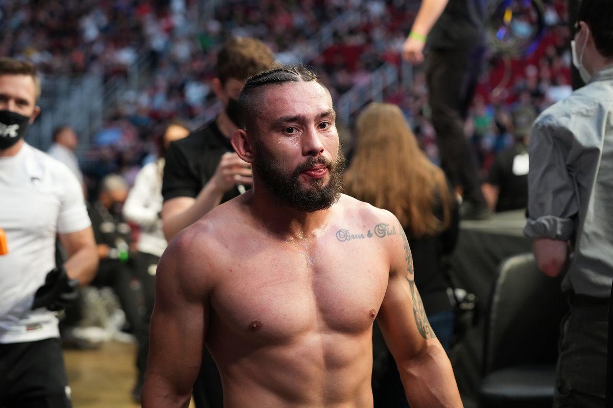 Rogerio Bontorin after his fight against Matt Schnell at UFC 262.