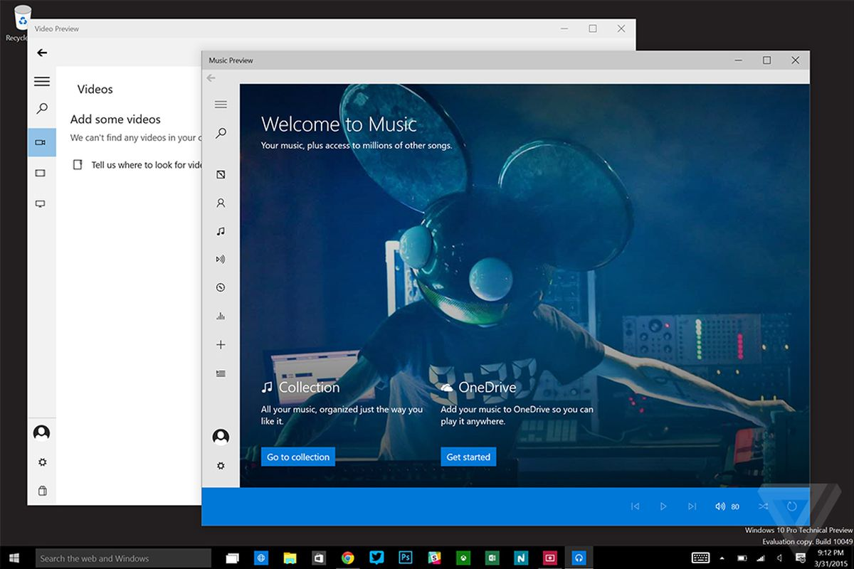 Windows 10's new Music and Video apps finally drop the Xbox