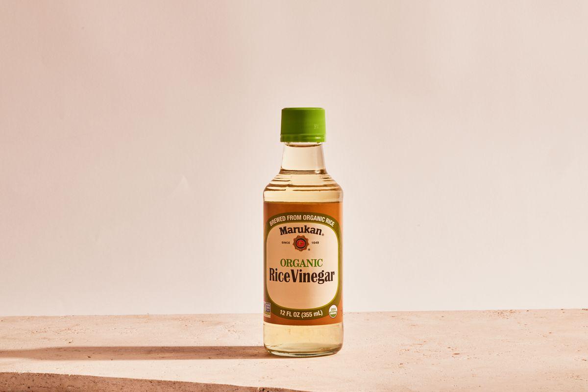 A bottle of rice vinegar