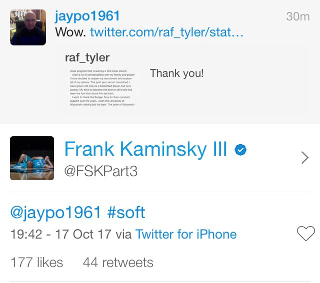Frank Kaminsky is a dork