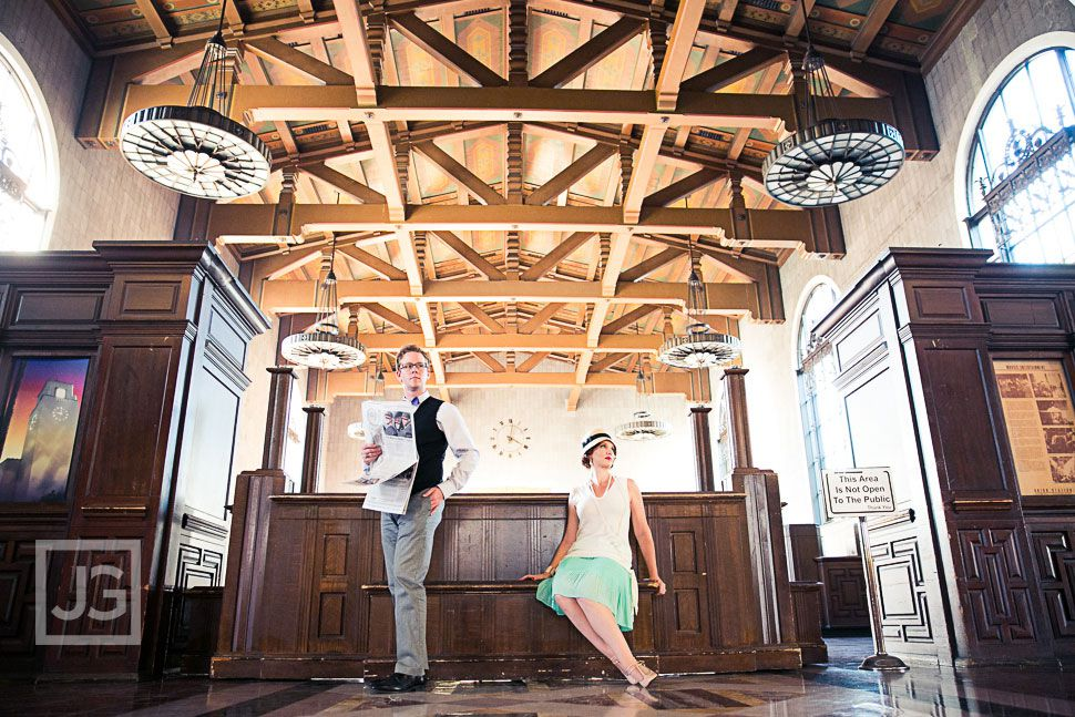 LA Union Station Engagement Photo