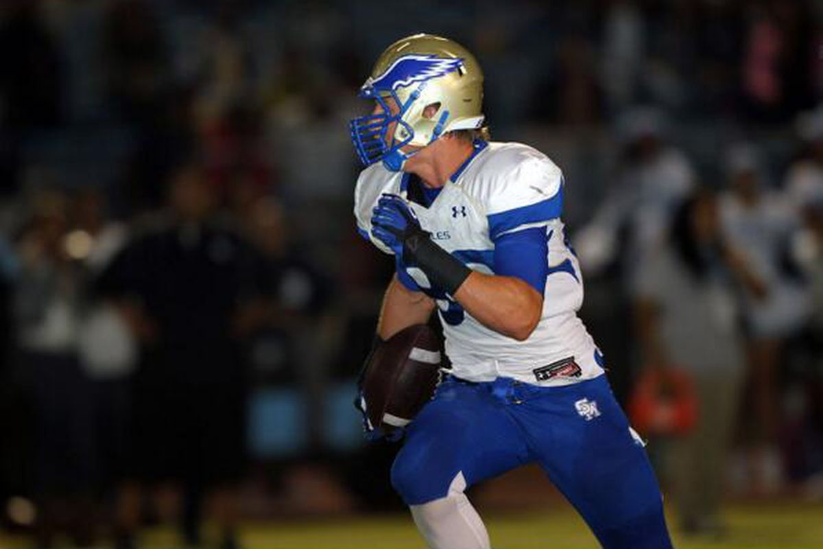 In addition to playing DE, Rick Wade also plays TE for Santa Margarita Catholic.