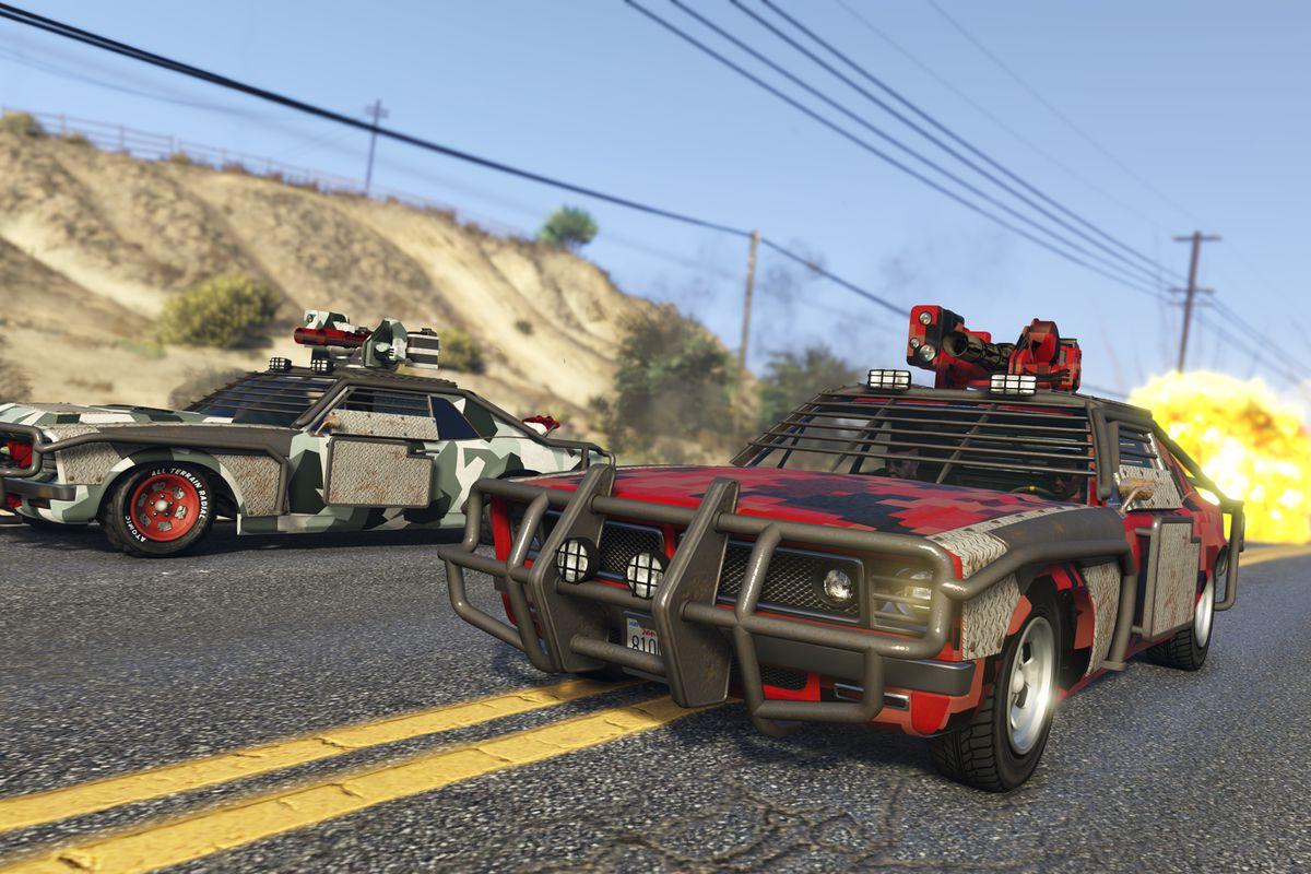GTA Online Gunrunning update - weaponized armored cars