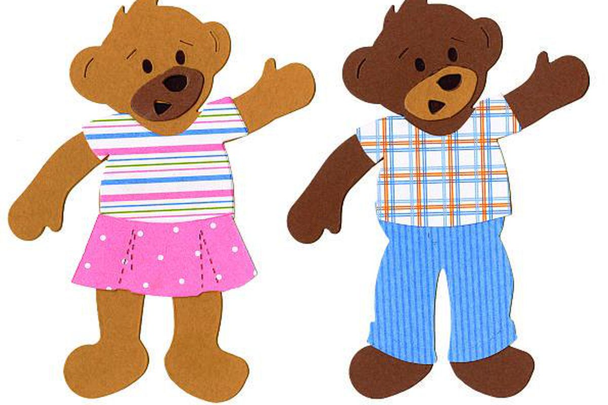 Die cut based on  Build-A-Bear Workshop mascot Bearamy and his furry friends.